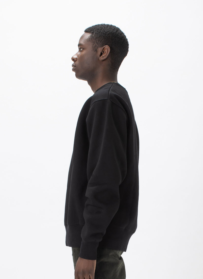 Leisure Micro Crew Sweat Black