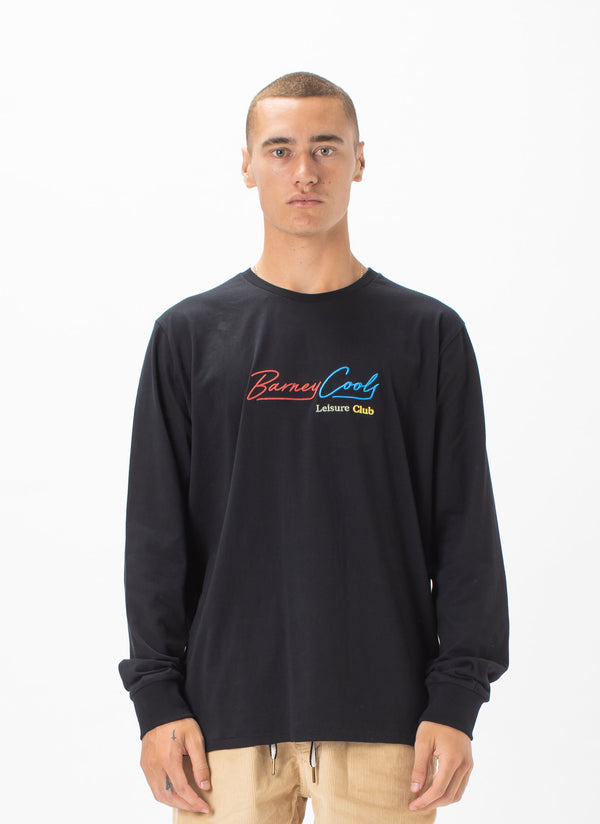 Neon Club Long Sleeve Tee Black