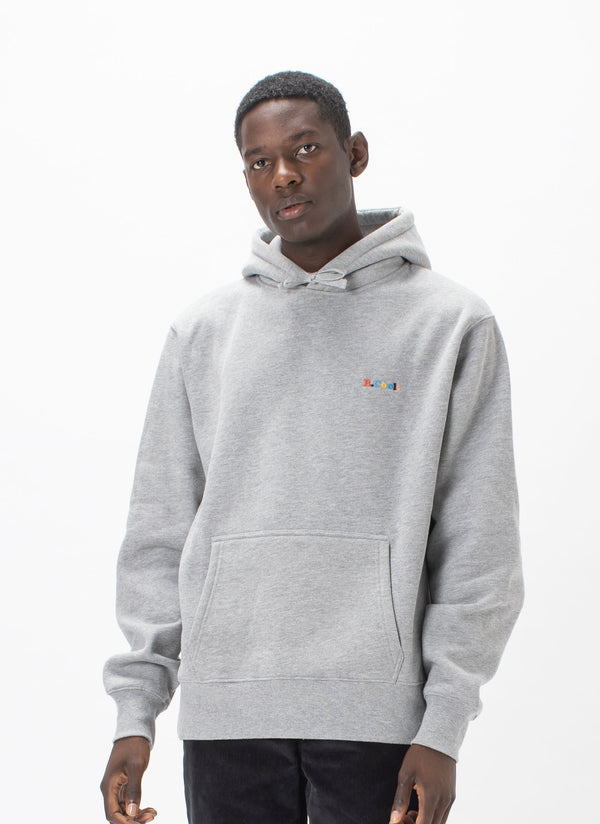 B.Cools Retro Embro Hood Sweatshirt Grey Marle