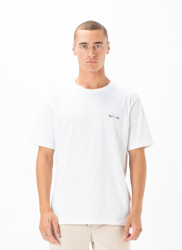 B.Cools Retro Embro Tee White