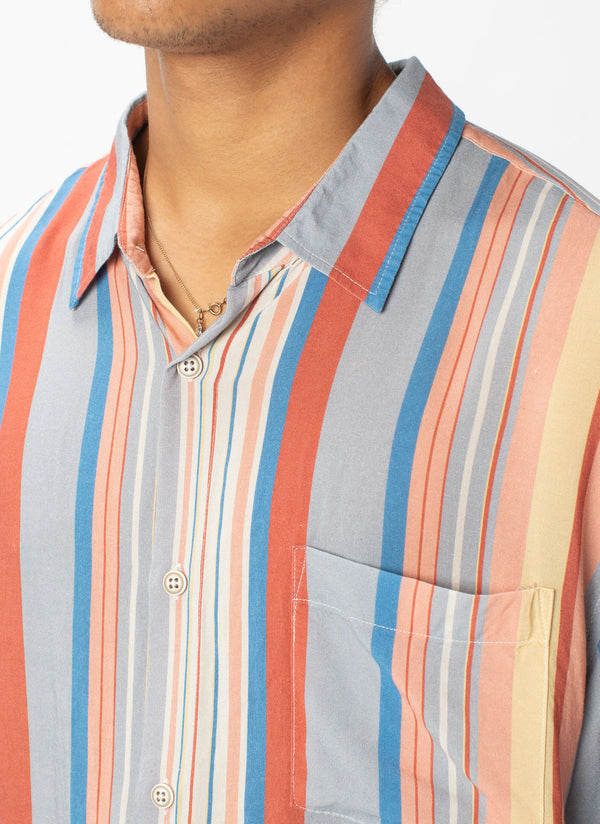 Holiday Short-Sleeve Shirt Summer Stripe