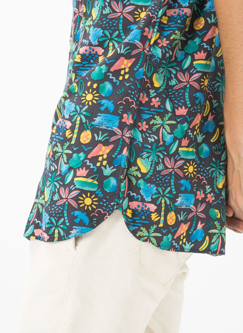 Holiday Short-Sleeve Shirt Tropic Nights