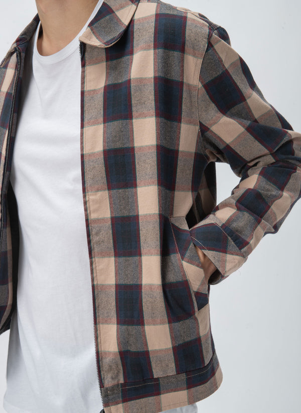 Club Jacket Beige Check - Sale