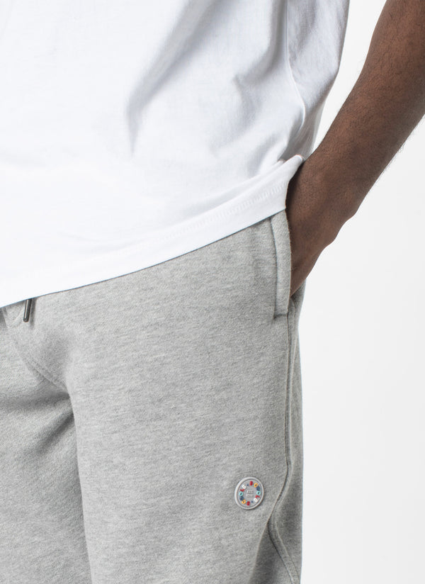Badge Sweatpant Grey Melange