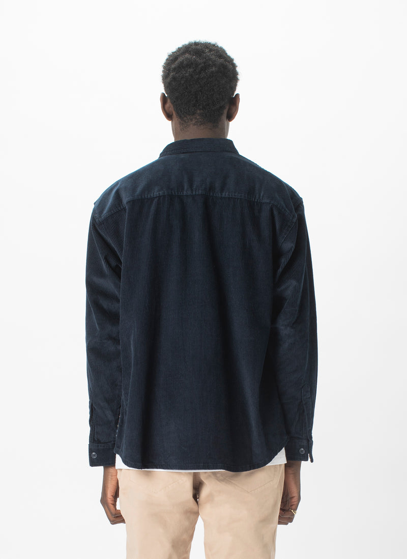 Cabin Long-Sleeve Shirt Navy Cord