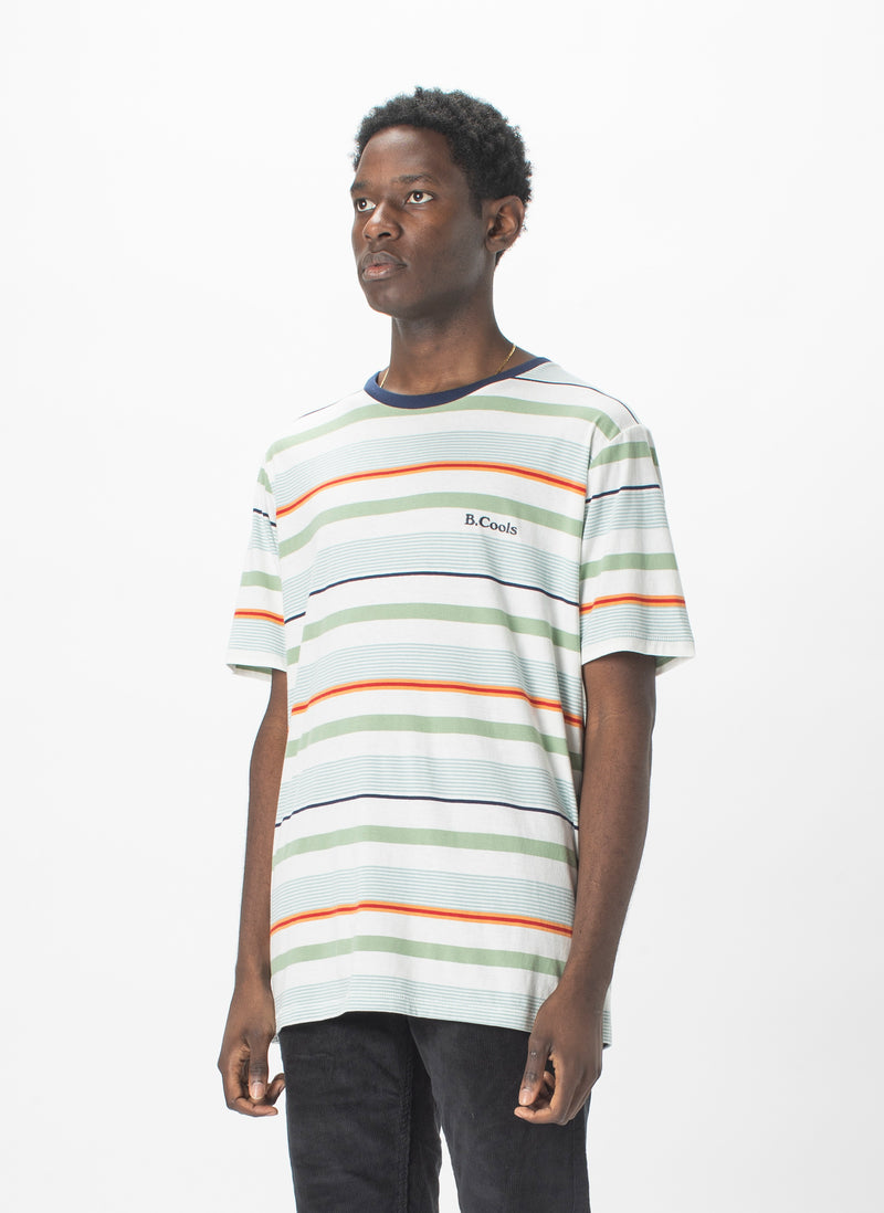 B.Cools Embro Tee Malibu Stripe