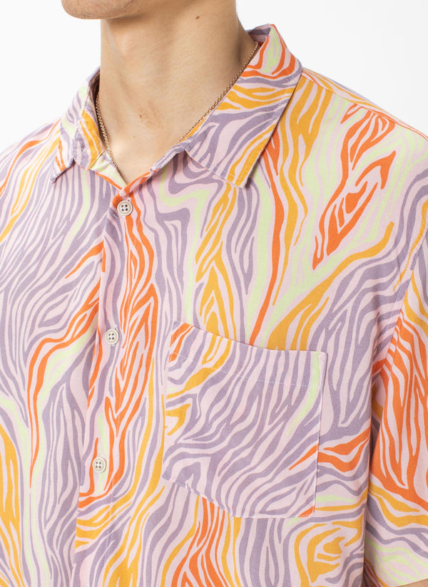 Holiday Short-Sleeve Shirt Rose Zebra
