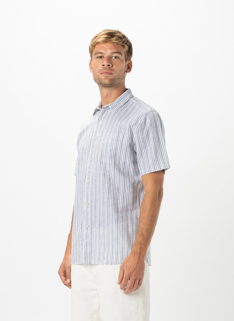 Holiday Short-Sleeve Shirt White Stripe - Sale