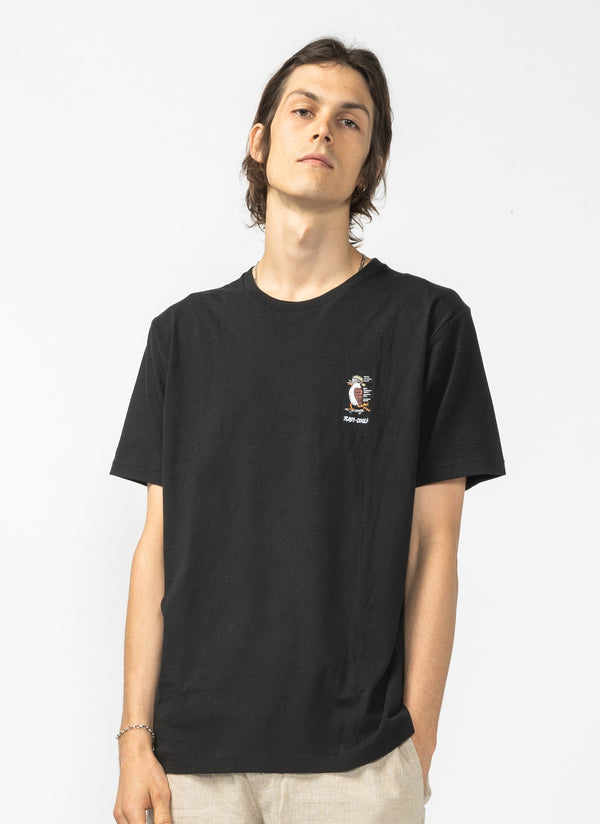 Kookaburra Tee Black - Sale