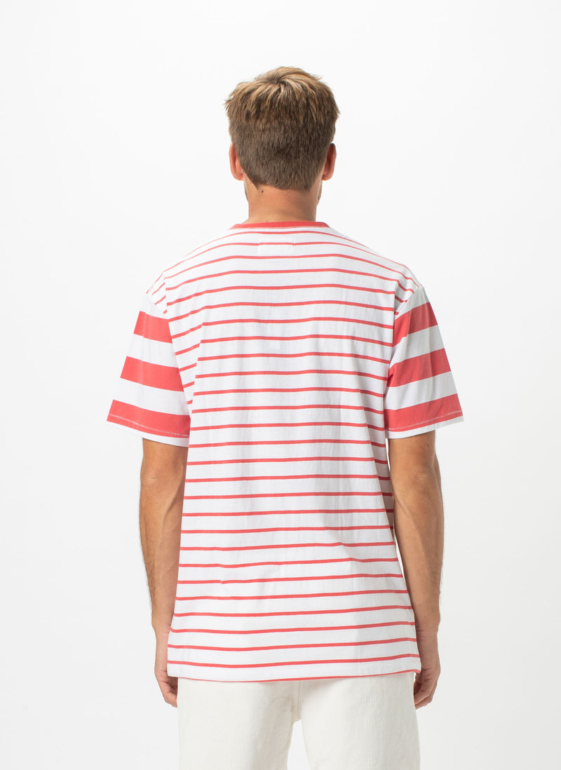Script Embro Heritage Tee Red Stripe