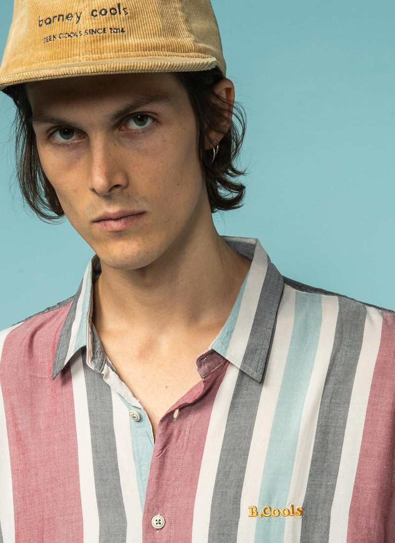 Holiday Short Sleeve Shirt Rose Vertical Stripe - Sale