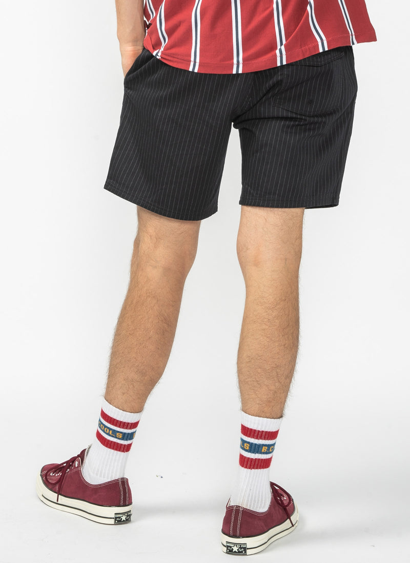 "Poolside 17"" Short Navy Stripe - Sale"