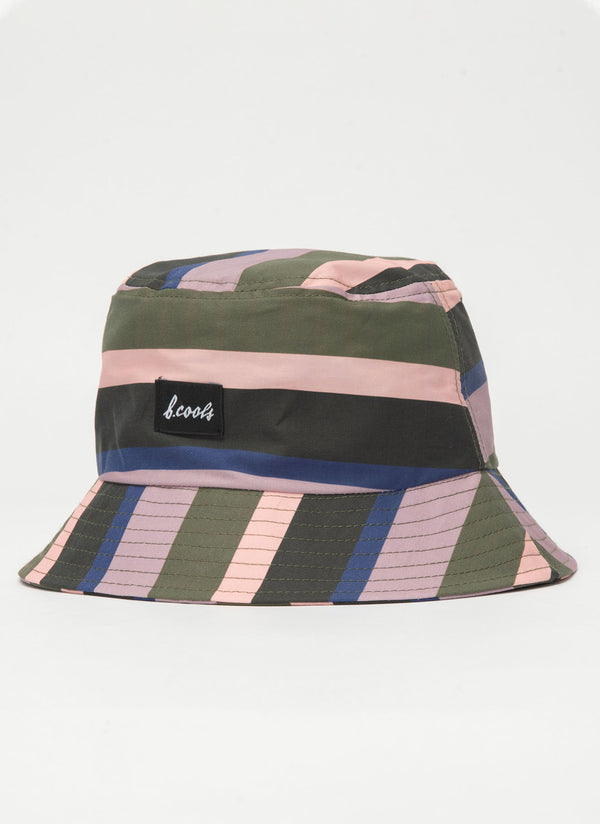 Bucket Hat Disco Stripe