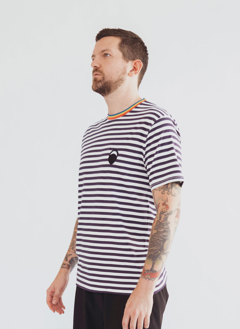 Gerald Eye Tee Navy Stripe