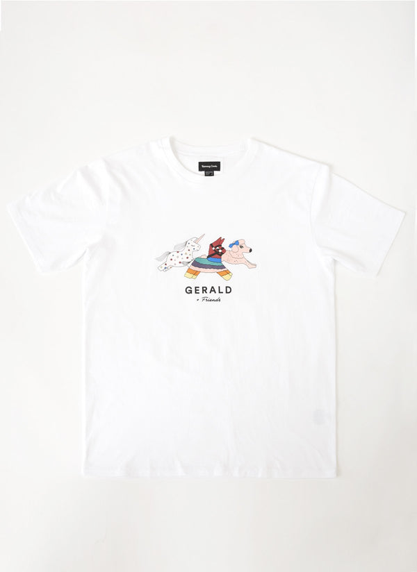 Gerald & Friends Tee White - Sale
