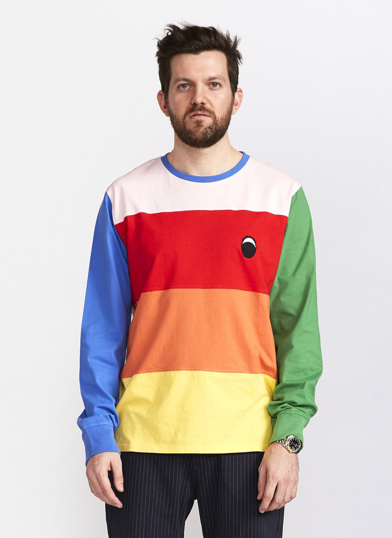 Gerald Paneled LS Tee Rainbow - Sale
