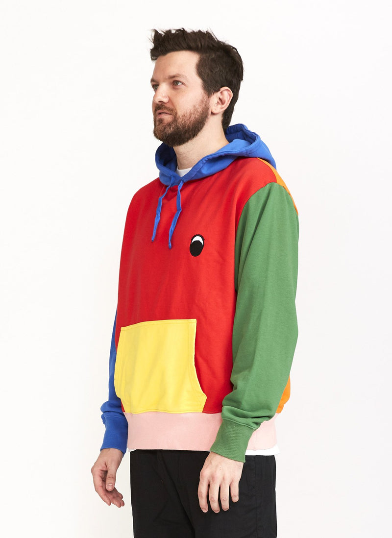 Gerald Fleece Hood Colour Block