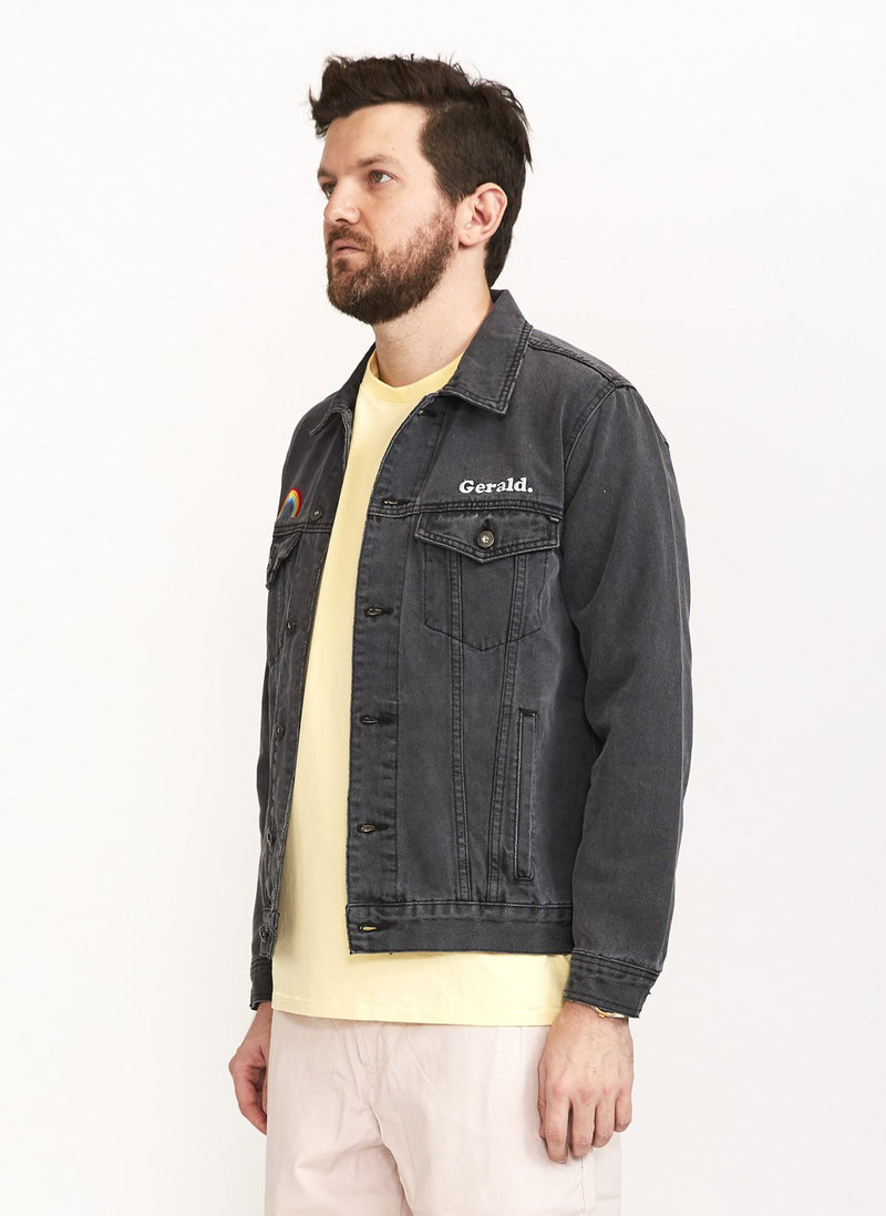 Denim Jacket Black Embro - Sale