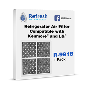 Refresh R-9918 Replacement Air Filter - Fits Kenmore 469918, LG LT120F, LFX29927ST, and more!