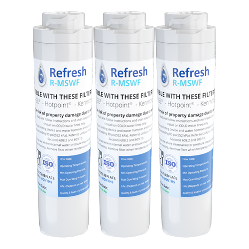 Refresh R-MSWF Replacement Water Filter - Fits GE MSWF, MSWFDS, WSG-3, and more!