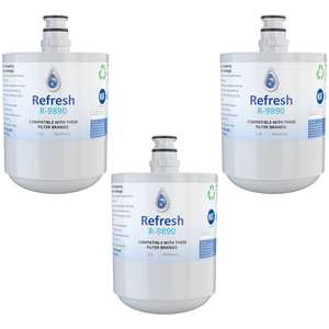Refresh R-9890 Replacement Water Filter - Fits LG LT500P, LFX25973ST, LMX25964ST, and more!