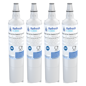 4 Pack Fits LG LFX25960ST Refrigerators Refresh Replacement Water Filter