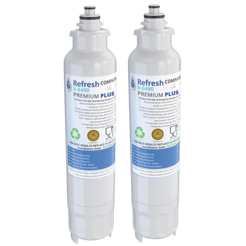 Refresh R-9490-Plus NSF-53 Premium Replacement Refrigerator Water Filter for LG LT800P, ADQ73613401 and Kenmore Elite 46-9490, 9490, 469490, ADQ73613402 and more!