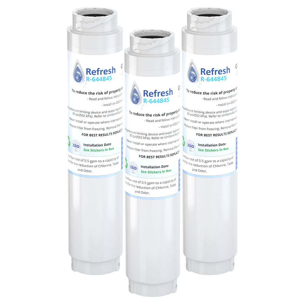 Refresh R-644845 Replacement Refrigerator Water Filter Compatible with Bosch 644845 REPLFLTR10 UltraClarity, 644845, 9000194412, 740570, 9000077095, 9000193914 and more!