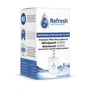 Refresh R-8171413 Replacement Refrigerator Water Filter for Whirlpool 8171413, 8171414, EDR8D1, Kenmore 46-9002 and more!