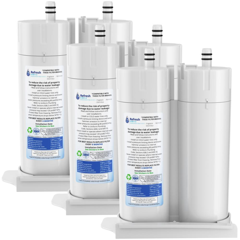 Refresh R-9911 Replacement Refrigerator Water Filter for Frigidaire WF2CB, NGFC 2000, 1004-42-FA, 469911, 9916, 469916, FC 100 and EWF2CBPA  and more!