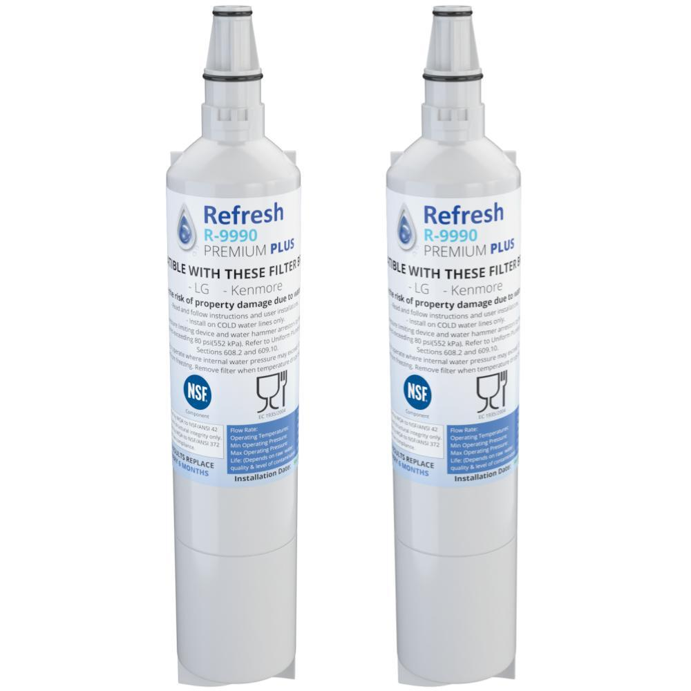 Refresh R-9990 Replacement Water Filter - Fits LG 5231JA2006A, LFX25960ST, LFX25971ST, and more!