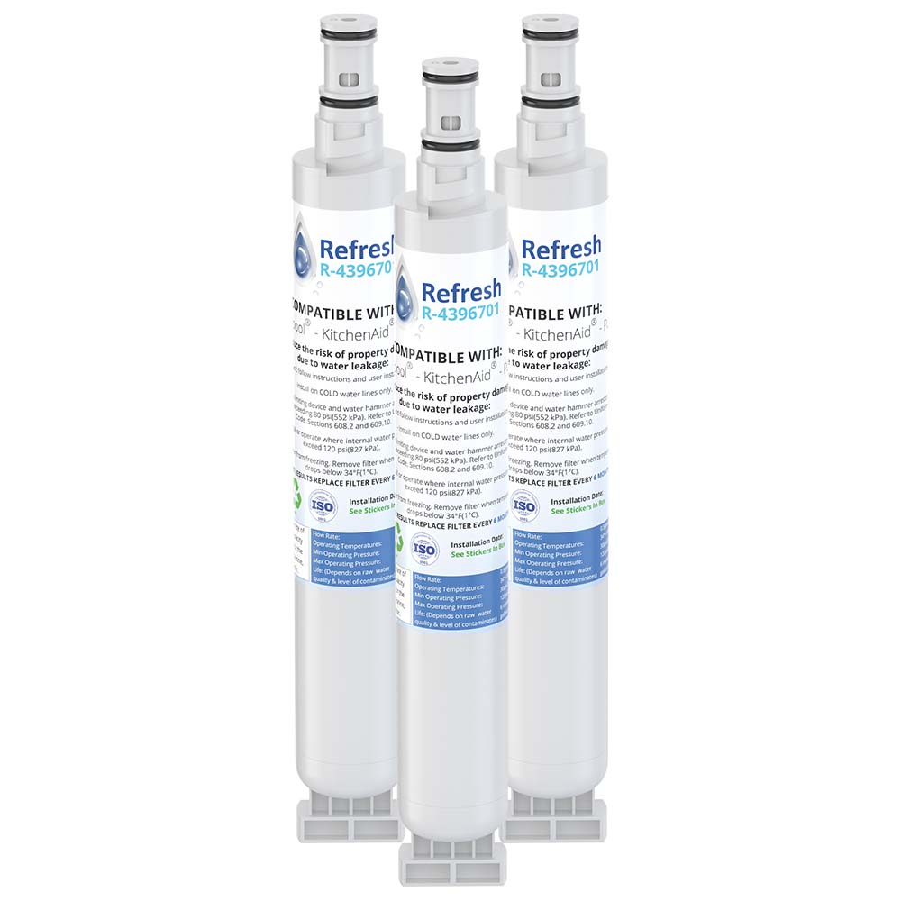 Refresh R-4396701 Replacement Refrigerator Water Filter for Whirlpool 4396701, 4396702, EDR6D1, EveryDrop Filter 6, Kenmore 9915, 46-9915 and more!