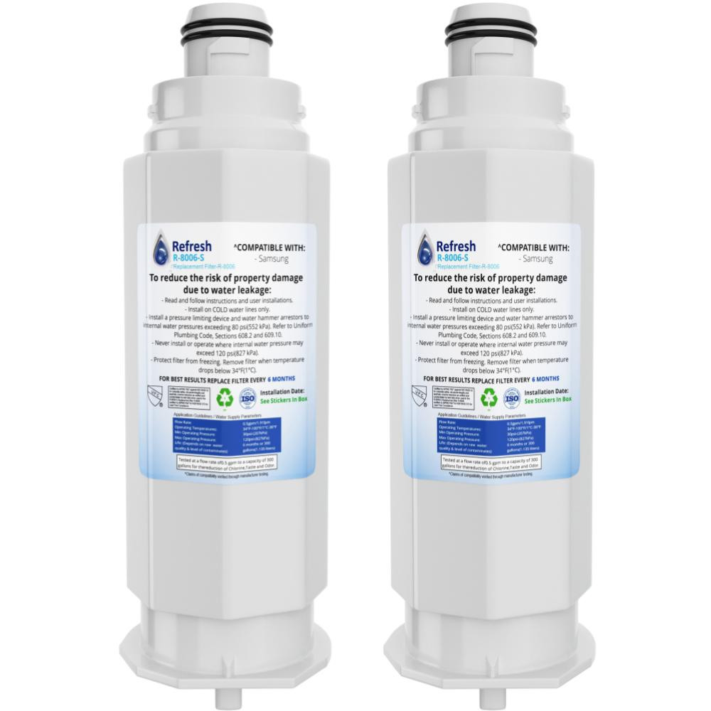 Refresh R-8006 Replacement Refrigerator Water Filter for  Samsung DA97-17376B, DA97-08006C, HAF-QIN, HAF-QIN/EXP, RF23M8070SG, BRF425200AP and more!