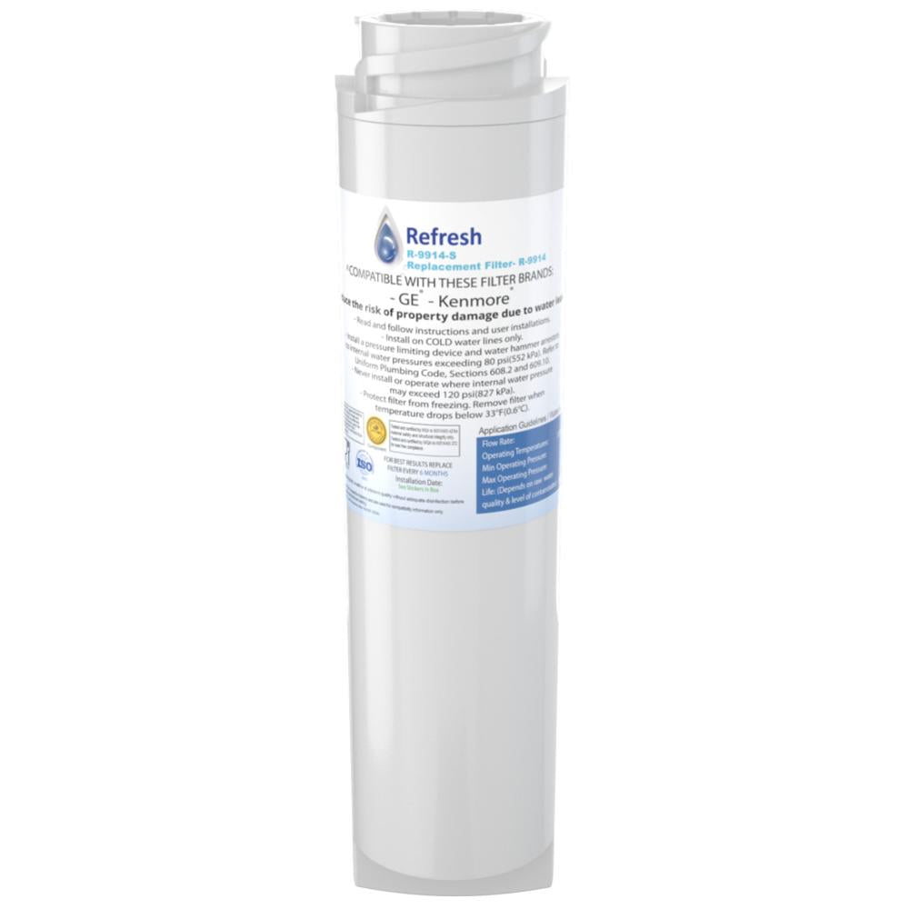 Refresh R-9914 Replacement Refrigerator Water Filter for GE GSWF SmartWater 238C2334P001,GSWFDS, 100749-C, 100810/A and Kenmore 46-9914, 469914, 9914 and more!