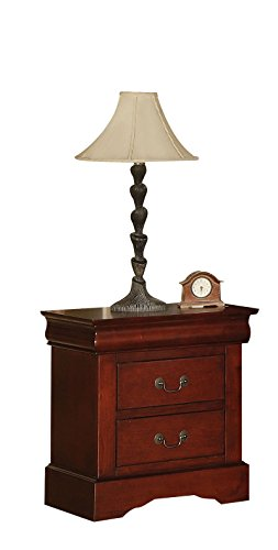 Acme 19523 Louis Philippe III Nightstand, Cherry Finish