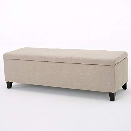 Christopher Knight Home Glouser Fabric Storage Ottoman, Sand