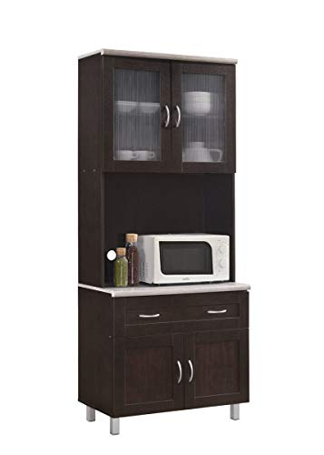 Hodedah Kitchen Cabinet, Chocolate