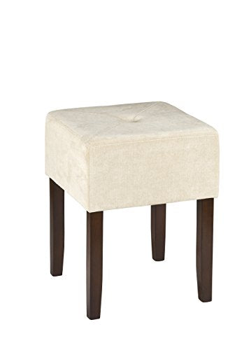 Hillsdale Bellamy Backless Vanity Stool, Beige