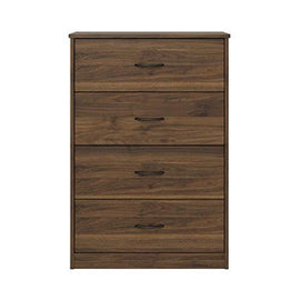 Mainstays 4-Drawer Dresser, (4-Drawer, Canyon Walnut, Handi Wipes) (4-Drawer, Canyon Walnut)