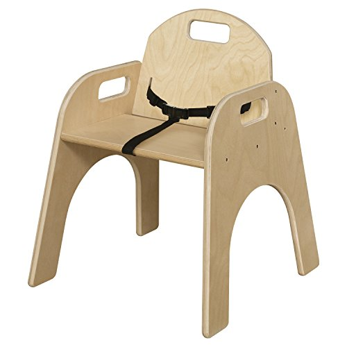 Wood Designs Stackable Woodie Kids Chair with Seatbelt, 13