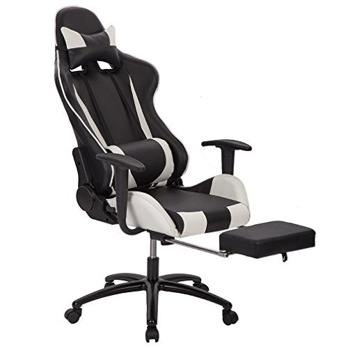 Managerial and Executive Office Chair Gaming Chair High-back Computer Chair Ergonomic Design Racing Chair w/Lay Flat Function
