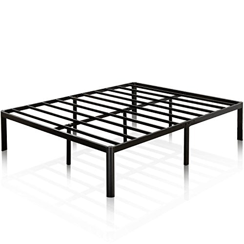 Zinus 16 inch Metal Platform Bed Frame Steel Slat Support, Mattress Foundation, Queen