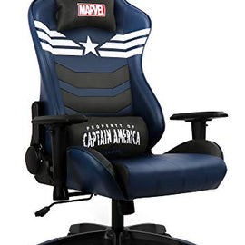 Marvel Avengers Gaming Chair Desk Office Computer Racing Chairs - Recliner Adults Gamer Ergonomic Game Reclining High Back Support Racer Leather Rocker (Captain America)