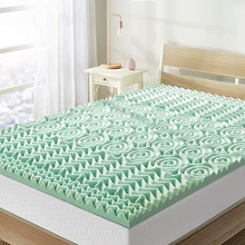 Best Price Mattress Twin Mattress Topper - 1.5 Inch 5-Zone Memory Foam Bed Topper Aloe Infused Cooling Mattress Pad, Twin Size