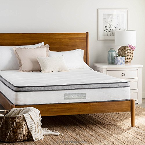 WEEKENDER 10 inch Hybrid Mattress - Memory Foam Motion Isolating Springs - 10 Year Warranty - Queen