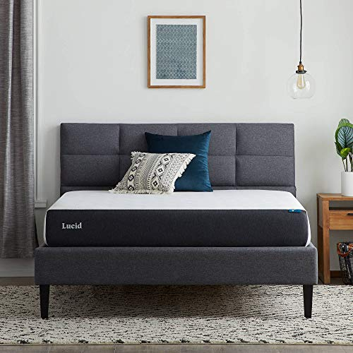 Lucid 8 Inch Gel Memory Foam Mattress – Plush Feel – Gel Infusion – Hypoallergenic Bamboo Charcoal – Breathable Cover