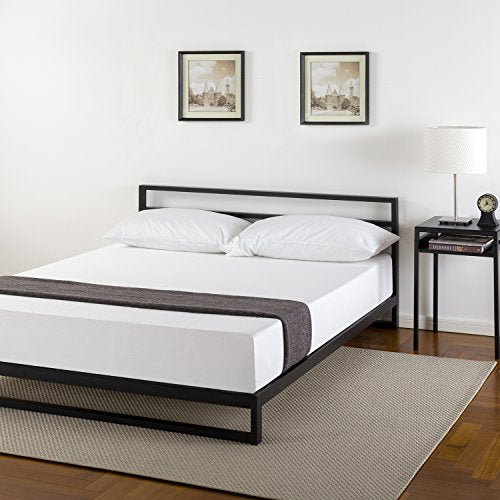 Zinus 7 Inch Platforma Bed Frame with Headboard/Mattress Foundation/Boxspring Optional/Wood Slat Support, Full