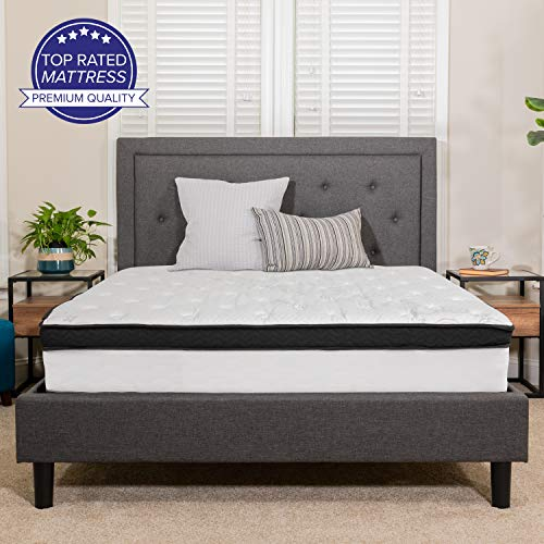 Flash Furniture Capri Comfortable Sleep 12 Inch Memory Foam and Pocket Spring Mattress, King Mattress in a Box