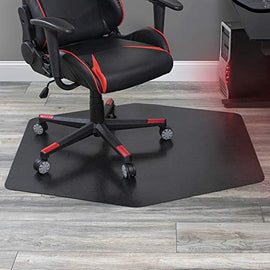 "ES Robbins Game Zone Chair Mat, 42"" x 46"", Black"