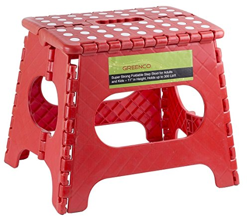 Greenco Super Strong Foldable Step Stool for Adults and Kids, 11